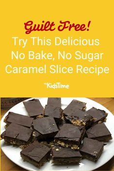 This Healthy No Bake, No Sugar Caramel Slice Recipe is Guilt-Free! Slice Recipe, How To Eat Less, Guilt Free, Dessert Recipes, Desserts, Something Sweet, Healthy Baking, Family Meals, Cravings
