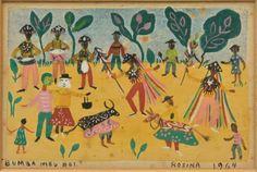 "Rosina Becker do Valle. ""Bumba Meu Boi"" (1964). Aquarela. 12x15cm"