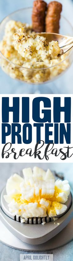 High Protein Breakfast – this healthy egg salad breakfast and sausage breakfast can be made in 15 minutes – it is low carb and you can make it ahead. @jvillesausage #sausagefamily #ad