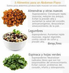3 alimentos para un abdomen plano.
