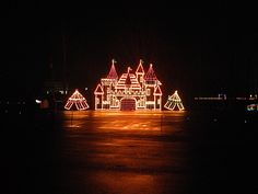 One of the 2 millions lights on display at the Bristol Motor Speedway in lights