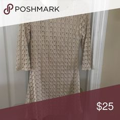 Dress Gorgeous cream colored dress. Very comfortable!! (Worn once) Red Camel Dresses Long Sleeve