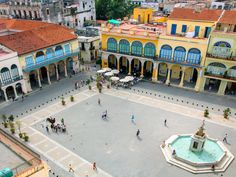caribbean, cuba, havana, plaza in La Habana Vieha district, a UNESCO World Heritage site #traveldeeper