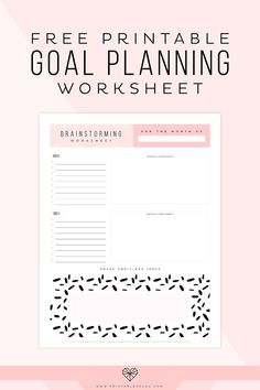 Get those brilliant ideas down on paper with this FREE Printable Goal Planning Worksheet! Get those brilliant ideas down on paper with this FREE Printable Goal Planning Worksheet! Edit it in Adobe Reader, then print it out every month. Goals Printable, Printable Planner, Free Printables, Freebies Printable, Printable Worksheets, Goals Planner, Happy Planner, Budget Planner, Life Planner