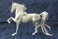 """Adlai """"Ornament of God"""" Park Trot Arabian Gelding sculpted by Tabatha Pack of Twin Oak Arabians. Approx. 1/9th scale. Limited Edition. #TwinOakArabians #ArabianHorses #Sculptures"""