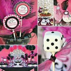 Pink and black bunco