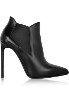 SAINT LAURENT Leather ankle boots @NET-A-PORTER.COM #MelsCloset