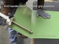 DRACO EcO-Bender3 Panelfabrication - How to fabricate a Standing Seam Panel - YouTube