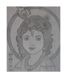 How to draw Bal Krishna pencil drawing step by step - Learn Drawing Pencil Drawing Images, Art Drawings Sketches Simple, Art Drawings For Kids, My Drawings, Lord Krishna Sketch, Krishna Drawing, Madhubani Art, Mandala Art, Quilling Designs