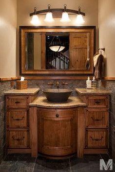 Inspiration Web Design Heritage Wood vanity top in Black Walnut mediterranean bathroom countertops atlanta by Artisan Group Stone and Wood Countertops
