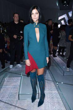 Milano mados savaitė. Versace kolekcijos pristatymas. Leigh Lezark.