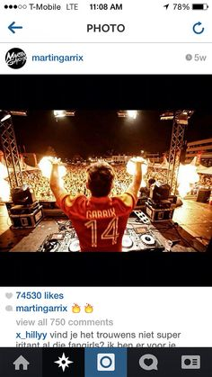 """Martin Garrix wearing the 2014 World Cup Netherlands Home jersey with name """"GARRIX"""" and #14. Get your jersey at edmgears.com"""