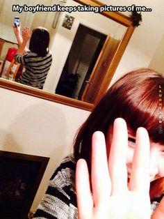 Omg... This is soooooooo fake. I bet she doesn't even have a boyfriend. //// hey buddy look in the mirror behind her