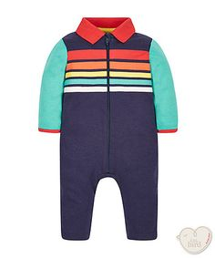 Little Bird by Jools Zip Through Stripe Romper Little Bird By Jools, Jools Oliver, Cool Kids Clothes, Gender Neutral, Boy Outfits, Wetsuit, What To Wear, Kids Fashion, Rompers