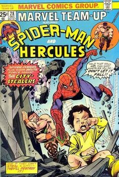Marvel Team-Up #28 Featuring Spider-Man and Hercules Marvel Comics Group December 1974 $.25