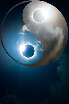 solar eclipse yin yang: don't get eclipsed Arte Yin Yang, Ying Y Yang, Yin Yang Art, Yin Yang Tattoos, Tatuajes Yin Yang, Zen, Yen Yang, Eclipse Solar, Mandala