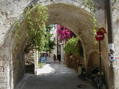 Passage in Crete (Crete is the largest and most populous of the Greek islands, the fifth-largest island in the Mediterranean Sea)