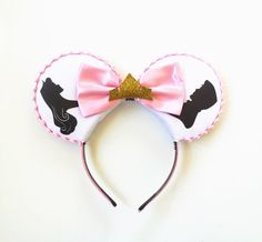 Sleeping Beauty Disney Inspired Ears, Aurora and Phillip Ears, Aurora Silhouette Ears Headband, Sleeping Beauty Mickey Ears, Ready to Ship