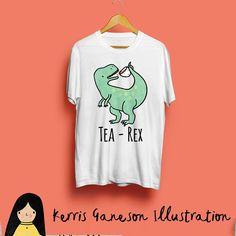 4c476e62 Tea Rex T-Shirt, Unisex Dinosaur T-Shirt Adorable and hilarious pun t