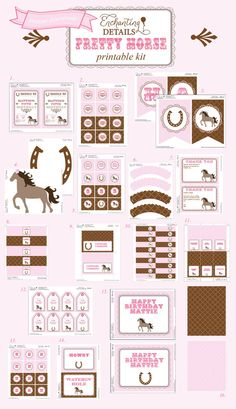 INSTANT DOWNLOAD Pony Pretty Horse by EnchantDetailsEvents on Etsy