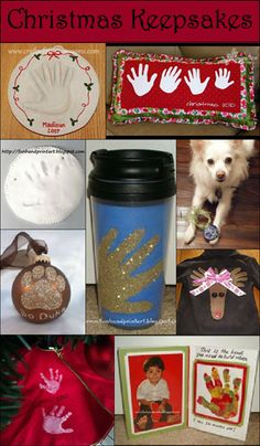 Christmas Handprint Keepsakes & Gift Ideas, DIY Holiday Decor #HandprintHolidays