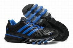 100% authentic da49c 026f4 Cheap Adidas 2014 Springblade II Black Blue Men s Athletics Running shoes  On Sale