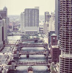 Public Domain Images – Wacker Drive Downtown Chicago River