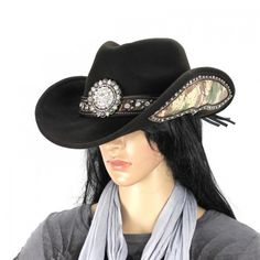 Montana West Hat Dark Brown Camo Cowgirl Bling