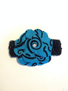 Infant Toddler Girls Teal Crochet Hairband Hairpiece Hairbow Hair Accessories on Etsy, $7.00