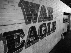 War Damn Eagle!  (War Eagle Wall- ©James Ross Beitzel). Auburn, AL