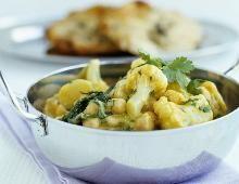 Blumenkohl-Kichererbsen-Curry