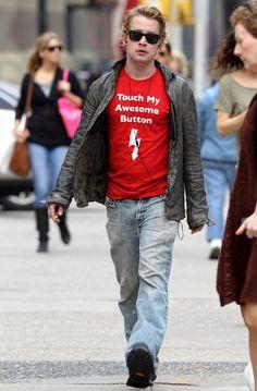 Macaulay Culkin sighting on October 25 2010 in New York City