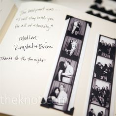 Guests were encouraged to cheese it up inside the photo booth and paste their photos in the guest book.