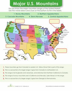 US Rivers United States Rivers And Geography - Mountain ranges of united states