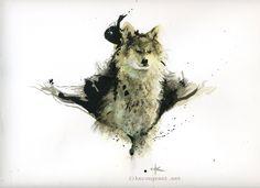 Wolf  by Kerong.deviantart.com on @DeviantArt