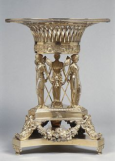 Gilt silver Fruit stand by Paul Storr, 1814-1815.