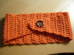 Easiest how-to steps for a crocheted ear warmer I've found so far! The color's great, too!