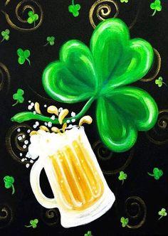 Graffiti Paintbar - Paint and Sip Studio Saint Patricks Day Art, Happy St Patricks Day, St Patricks Day Pictures, Paint And Sip, St Patricks Day Wallpaper, Painting Gallery, Painting Canvas, Painting Tips, Rock Painting