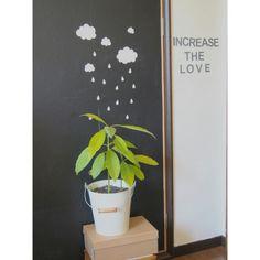Ryoさんの、黒板シート,NO GREEN NO LIFE,好きを増やす,アボカド,squ ,壁/天井,のお部屋写真