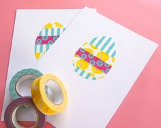 Omiyage Blogs: Washi Tape Easter Egg Card
