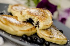 Blueberry pancakes Blueberry Pancakes, Breakfast, Ethnic Recipes, Food, Blue Berry Pancakes, Morning Coffee, Essen, Meals, Yemek