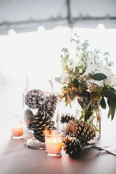 Winter wedding decorations diy wedding ideas regarding great diy winter wedding ideas best winsome wedding centerpieces with branches diy image of styles branch for weddings jpg winter budget wedding winter wonderland and wedding on Winter Wedding Centerpieces, Rustic Wedding Centerpieces, Flower Centerpieces, Centerpiece Ideas, Pinecone Centerpiece, Simple Centerpieces, Pinecone Wedding Decorations, Winter Decorations, Christmas Centerpieces