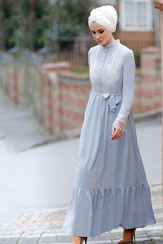 Gizem Kış Gri Eslem Elbise