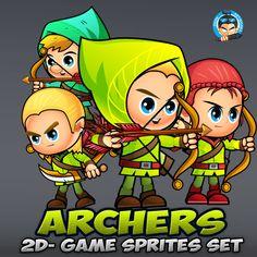 Archers 2D Game Sprites Set | Game Pro Market