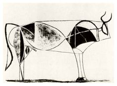 Picasso bull plate 7, 1945