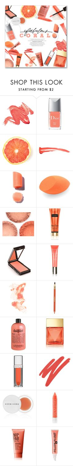 """""""Coral Beauty!"""" by lauren-a-j-reid ❤ liked on Polyvore featuring beauty, Christian Dior, Burberry, Jouer, By Terry, Jane Iredale, Sisley Paris, philosophy, Stella & Dot and Maybelline"""