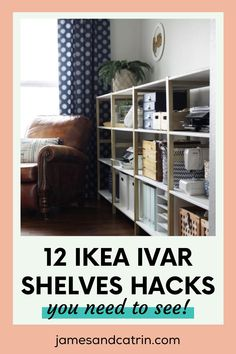 The Ikea Ivar shelves are a great, low cost way of creating extra storage. These Ikea Ivar shelves hacks make them look great too! Upgrade you Ivar shelves to look beautiful in your home. #ikeahacks #ivarhacks #ivarshelveshacks #ideas Ikea Furniture Hacks, Ikea Hacks, Cheap Furniture, Ikea Ivar Shelves, Ivar Ikea Hack, Home Decor Styles, Diy Home Decor, All White Bedroom, Best Ikea