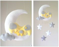 Bebé las nubes móviles owl buho móvil bebé por lovefeltmobiles