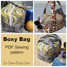 BOXY Bag - PDF Sewing  pattern