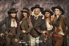 ~ Badass female gunslingers of the West: Jenna Miller, Bobbi Jeen Olson, Tressie Childs & Erin Alexander with Craig Bergsgaard, head of SBM, center.  As I always say: Don't start nothin', there won't be nothin'. ~